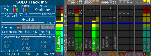 Cantar V3, Digital Limiter available on Mix-down tracks