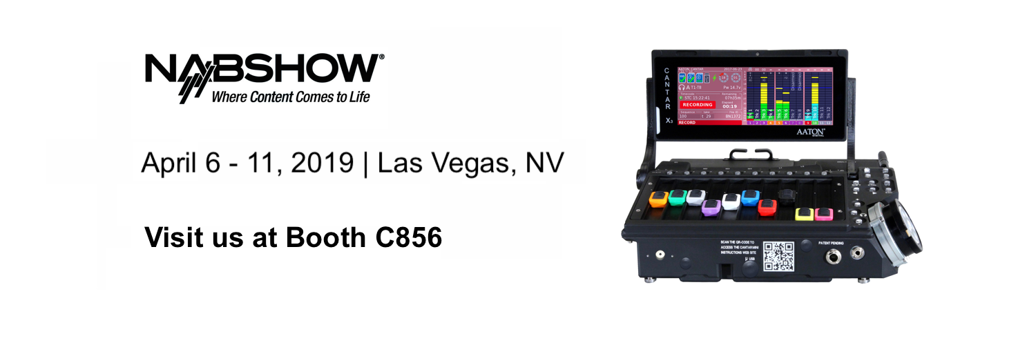 Aaton-Transvideo's latest products on show across NAB 2019 in Las Vegas