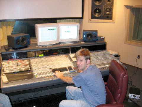 Mixing at the console at APC Studios in Atlanta, GA in 2004