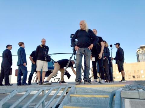 Moe Chamberlain, Shooting a commercial with Joe Pytka