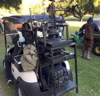 Moe Chamberlain Production Sound Mixer cart